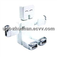 Comparable Price Hot Human 3D Robot Shaped Computer USB 2.0 4 Port HUB