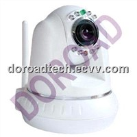 Surveillance WIFI Pan Tilt Dome IP Network Camera With Built-in Microphone / CCTV Camera