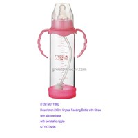 120ml  Crystal Glass Feeding Bottle