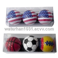 3PCS Golf Ball Set PVC Box with Logo