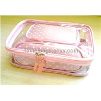 3-In-1 Cosmetic Bag (KM-COB0021), Make up Bag, PVC Bag, Promotion Gift Bags, PVC Bag, Satin Bag