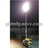 4x 500 W Mobile Light Tower with 5000 W Diesel Generator