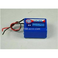 6V4.5AH LiFePO4 battery pack (UL approved cell)