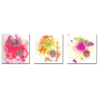 Abstract flower group painting