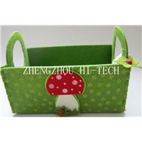 Art No.02-7077  Promotion gift mushroom design felt basket