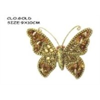 Christmas decorative gold powder butterfly