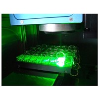Crystal laser inside engraving machine