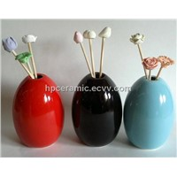 Egg Shape Ceramic Diffuser, Aroma incense, essential oil diffuser, fragance diffuser, bottle