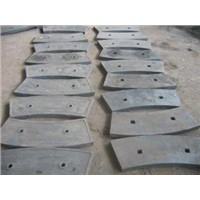 High Cr Iron Cast Liners For Cement Mill / Ball Mill Liners More Than HRC52 Hardness