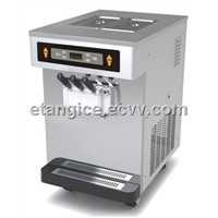 Table Top Soft Serve Ice Cream Making Equipment, 3 Flavor Commercial Yogurt Ice Cream Machine