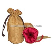 Jute Bag (KM-JTB0006), Jewelry Bag, Gift Bag, Promotion Packing Bag
