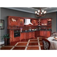 Solid Wood  Series Kitchen Cabinet - OP12-L002