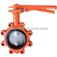 Lug Type Butterfly Valve with Two Stems Pinless