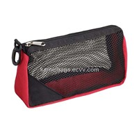 Mesh Cosmetic Bag(KM-MSB0056), Toiletry Bags,Make up Bags, Mesh Bags