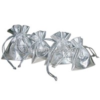 Metallic Bag (Km-Mtb0006), Gift Bag, Jewelry Bag, Drawstring Bag, Promotion Bag