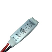 Mini RGB Controller Dimmer 12V 6A 3 Keys for 5050 3528 RGB LED Strip Light