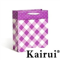 Mysterious Purple Flap Paper Bag For Women KR1085-PURPLE