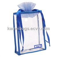 PVC Cosmetic Bag (KM-PVB0007), PVC Packing Bag, Promotion Packing Bag, Gift Bag, Make up Bags