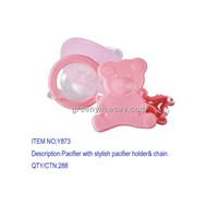 Pacifier with  holder& chain