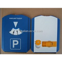 Parking disc with tire tread depth gauge