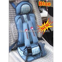 Portable Baby Kid Toddler Car Safety Secure Booster Seat Cover Harness Cushion-Blue