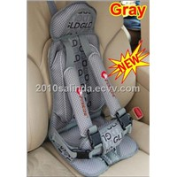 Portable Baby Kid Toddler Car Safety Secure Booster Seat Cover Harness Cushion-Gray