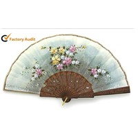 Promotional Making Lace Fan Wooden Fan