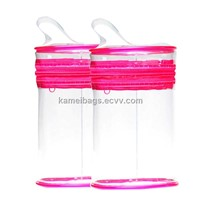 Round Peva Bag(Km-Pvb0096), Accessories Bag, Gift Bag, Promotion Packing Bag, Cosmetic Bag