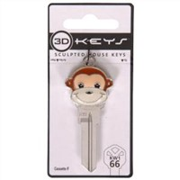 Sculpted Monkey House Keys