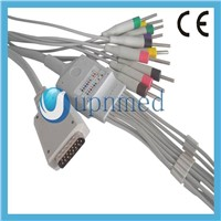 ShangHai Kohden 10-lead EKG cable with leadwires