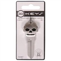 Silver Skull sculpted key blanks