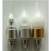 Silver led candle bulbs E14 6W  high power candle lamps for chandelier beautiful look