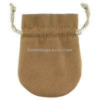 Suede Gift Bag(Km-Gtb0005), Jewelry Pouch, Cellphone Pouch, Promotion Packing Bag, Drawstring Bag