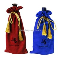 Wine Bag(Km-Veb0050), Bottle Bags, Velvet Bag, Gift Bag, Drawstring Bags, Promotiion Packing Bags,