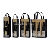 Wine Bags(KM-WNB0051), PVC Window Bags, Non-Woven Bags, Gift Bags, Promotion Packing Bags