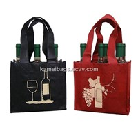 Wine Bags(KM-WNB0057), Non-Woven Bags, Gift Bags, Promotion Packing Bags
