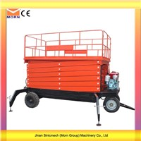 Diesel Engine Mobile Scissor Lift Machine
