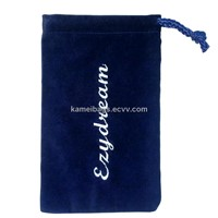 Embroidery Bag/Pouch(Km-Veb0030), Velour Bag, Gift Bag, Promotion Packing Bag