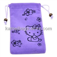 i-Phone Bag (KM-VEB0056), Cell Phone Bags, Velvet Bags, Drawstring Bag, Gift Packing Bags