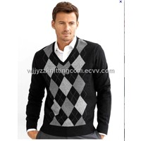 Jacquard Sweater Wool Cashmere Pullowver Sweater Shirt