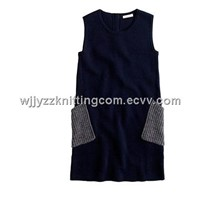 Kids Sweater Vest Dress Skrit Pullover Woollen
