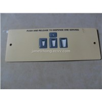 membrane switch with embossed key
