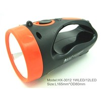 plastic LED portable high power rechargeable hand searchlight,hand lamp