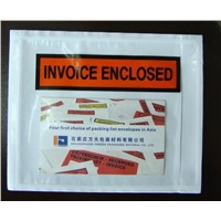 pressure sensitive invoice enclosed envelope