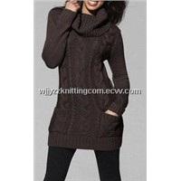 Sweater Dress Cashmere Turtleneck Outwear Skrit Pullover Dress