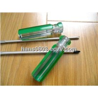 phillips screwdrivers with acetate green strips handle