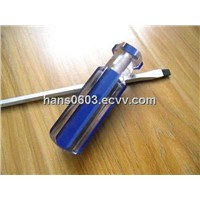 slotted screwdriver with acetate blue strips handle