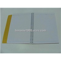 spiral notebook, notepad, memo pad, note book