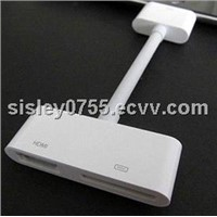 For iPad AV digital adapter 30Pin to HDTV HDMI Adapter Cable for iPhone 4 4S