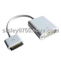 for ipad dvi to 30pin connector adapter cables for iPhone 4G 4S Touch 4 iPod